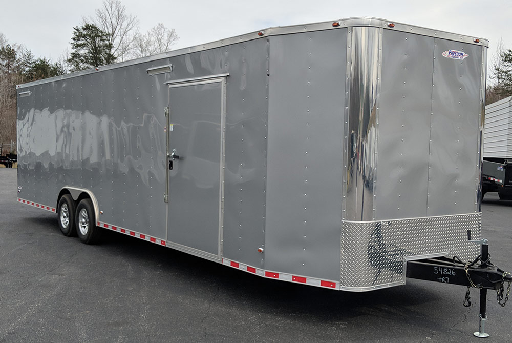 Tremendous Racing Trailer 18 8 5X30 Freedom New Red Vnose With Full Bathroom Wiring Digital Resources Instshebarightsorg