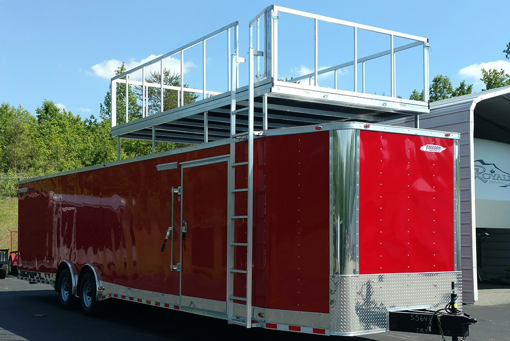 Terrific Racing Trailer 18 8 5X30 Freedom New Red Vnose With Full Bathroom Wiring Digital Resources Instshebarightsorg