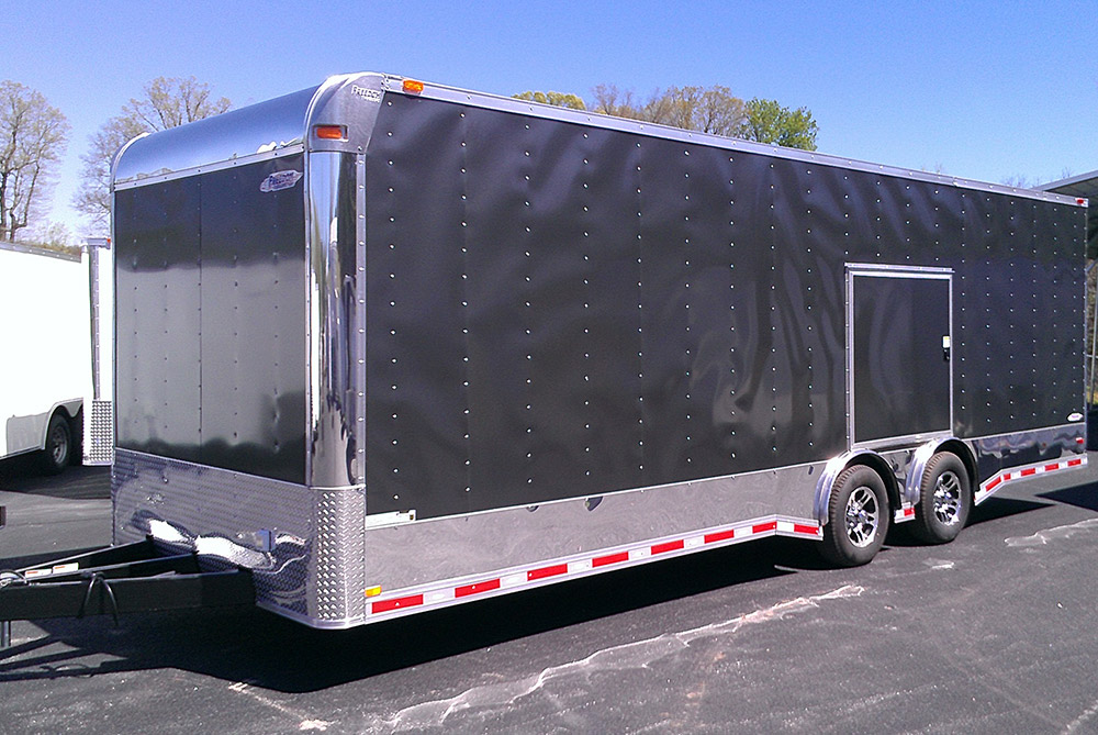 Peachy Racing Trailer 18 8 5X30 Freedom New Red Vnose With Full Bathroom Wiring 101 Capemaxxcnl